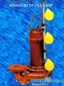 Máy bơm nước thải EBARA 80 DFJ 53.7 5HP có dao cắt rác 3 phao
