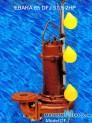 Máy bơm nước thải EBARA 65 DFJ 51.5 2HP có dao cắt rác 3 phao