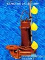 Máy bơm nước thải EBARA 100 DFJ 53.7 5HP có dao cắt rác 3 phao