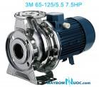 Máy bơm ly tâm trục ngang đầu inox 3M 65-125/5.5 7.5HP
