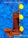 Máy bơm nước thải EBARA 80 DFJ 51.5 2HP có dao cắt rác 3 phao